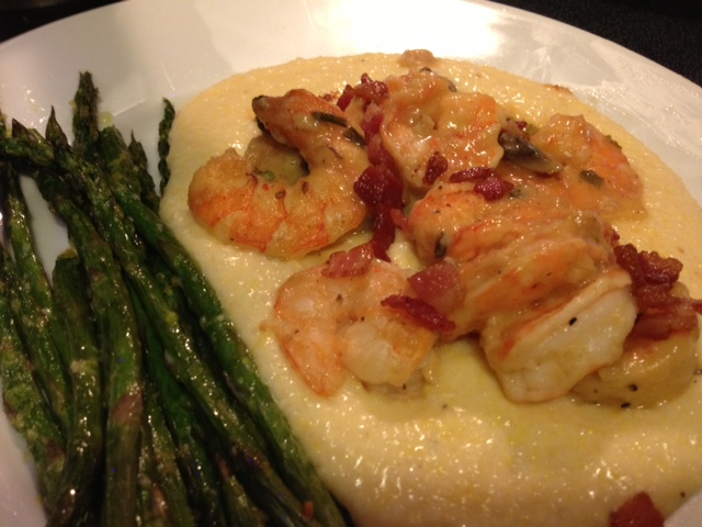 Shrimp and Grits recipe from Grabbing the Gusto