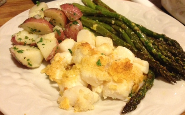 Baked Buzzards Bay Scallops |Grabbing the Gusto