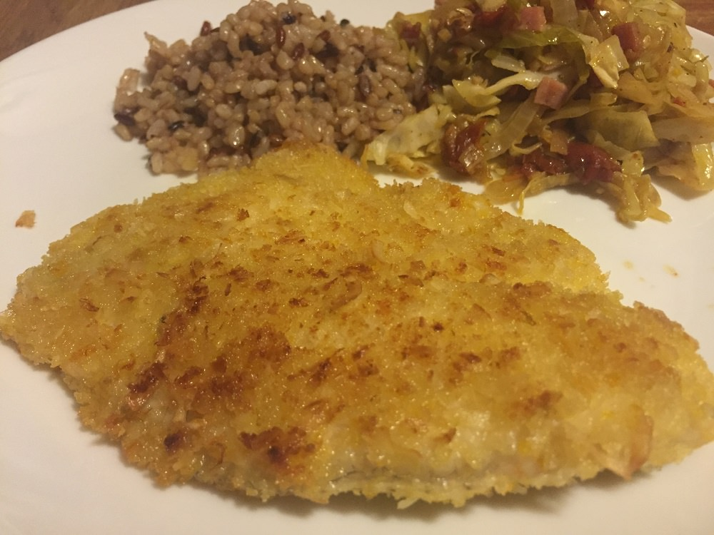 coconut citrus tilapia ready for dinner