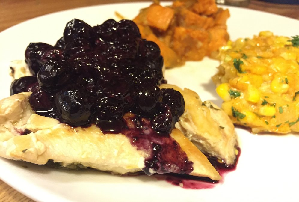 chicken with chipotle blueberry sauce