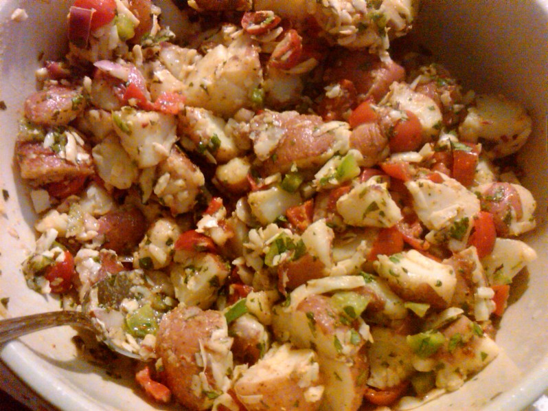 Southwestern Potato Salad | Grabbing the Gusto
