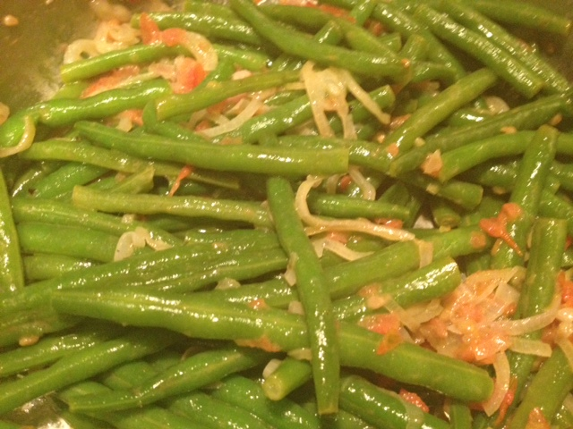 french green beans shallots tomatoes recipe