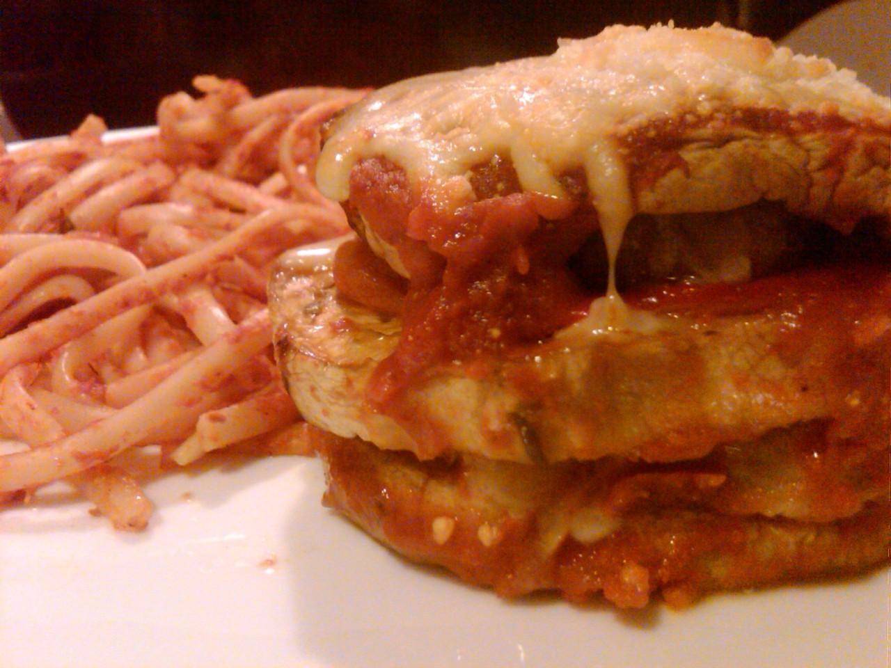 eggplant sausage pepper parmesan recipe