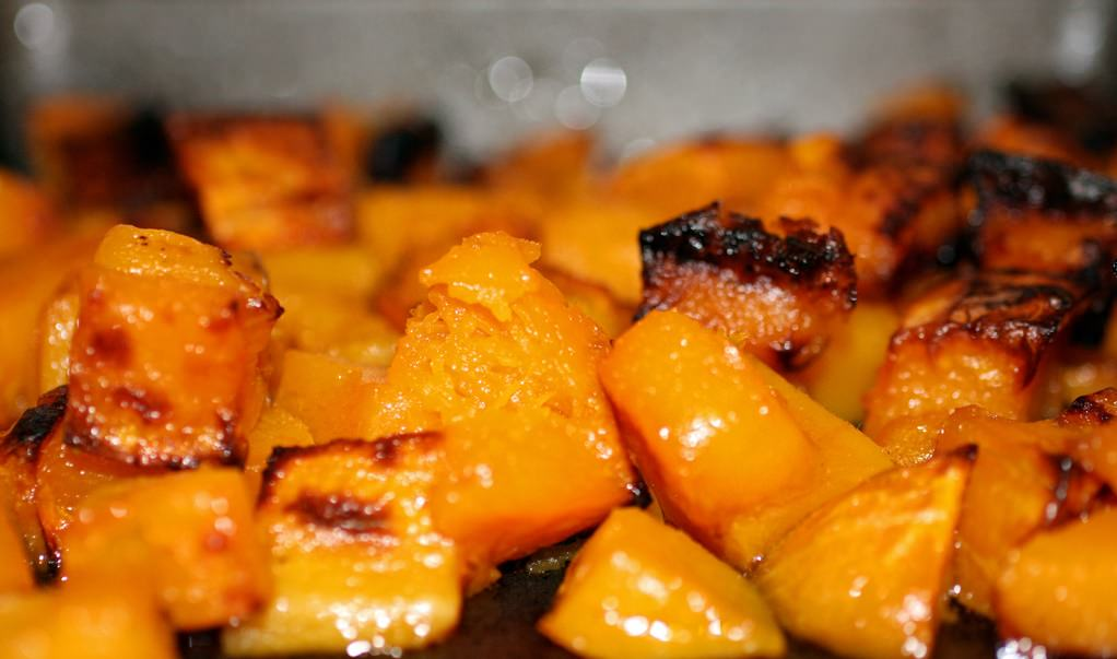 Roasted Butternut Squash Cubes | Grabbing the Gusto