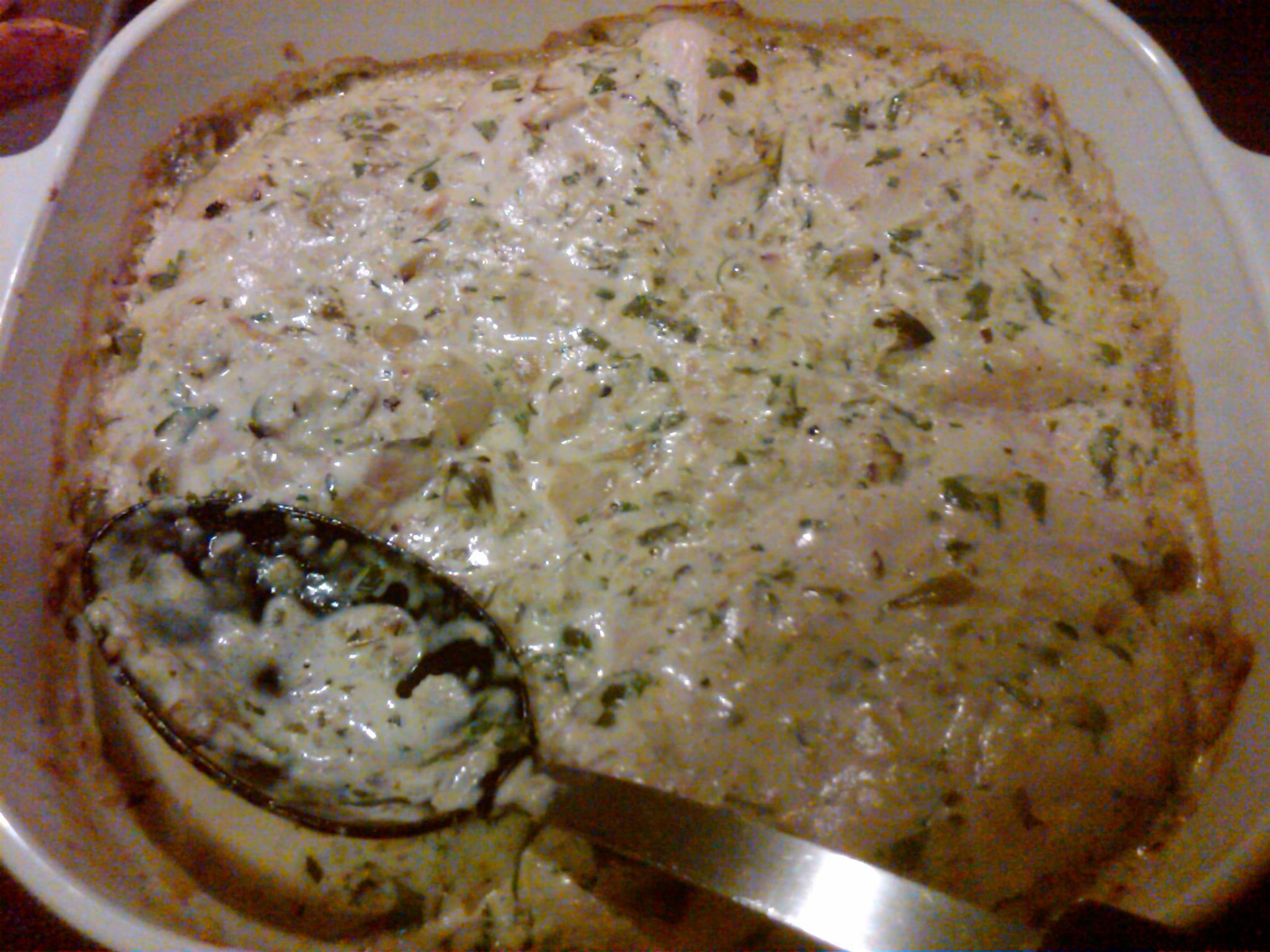 mexican bayless baked chicken tomatillo salsa cream sauce recipe