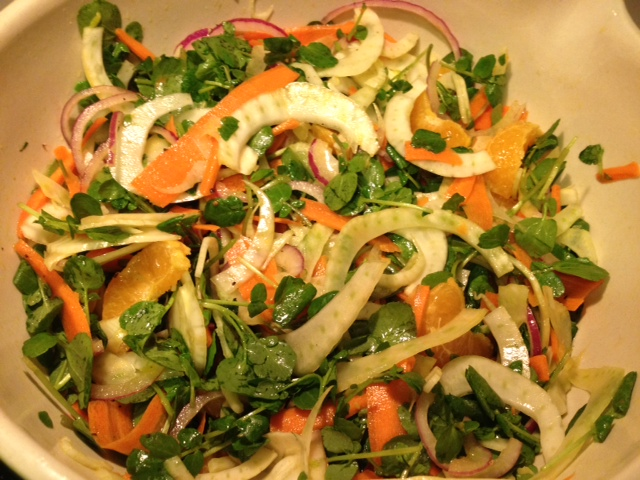 fennel carrot tangerine salad healthy
