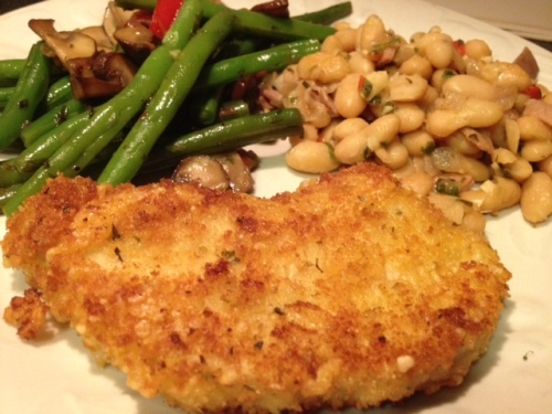 Pork Milanese - for those nights when you need a quick yet satisfying dinner   Grabbing the Gusto