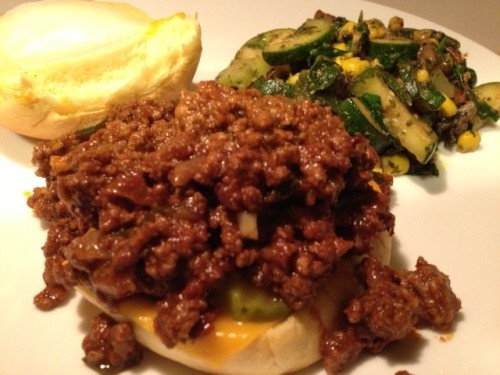 Chipotle Sloppy Joes recipe from Grabbing the Gusto
