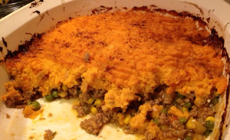 Sweet Potato Turkey Shepherd's Pie recipe from Grabbing the Gusto