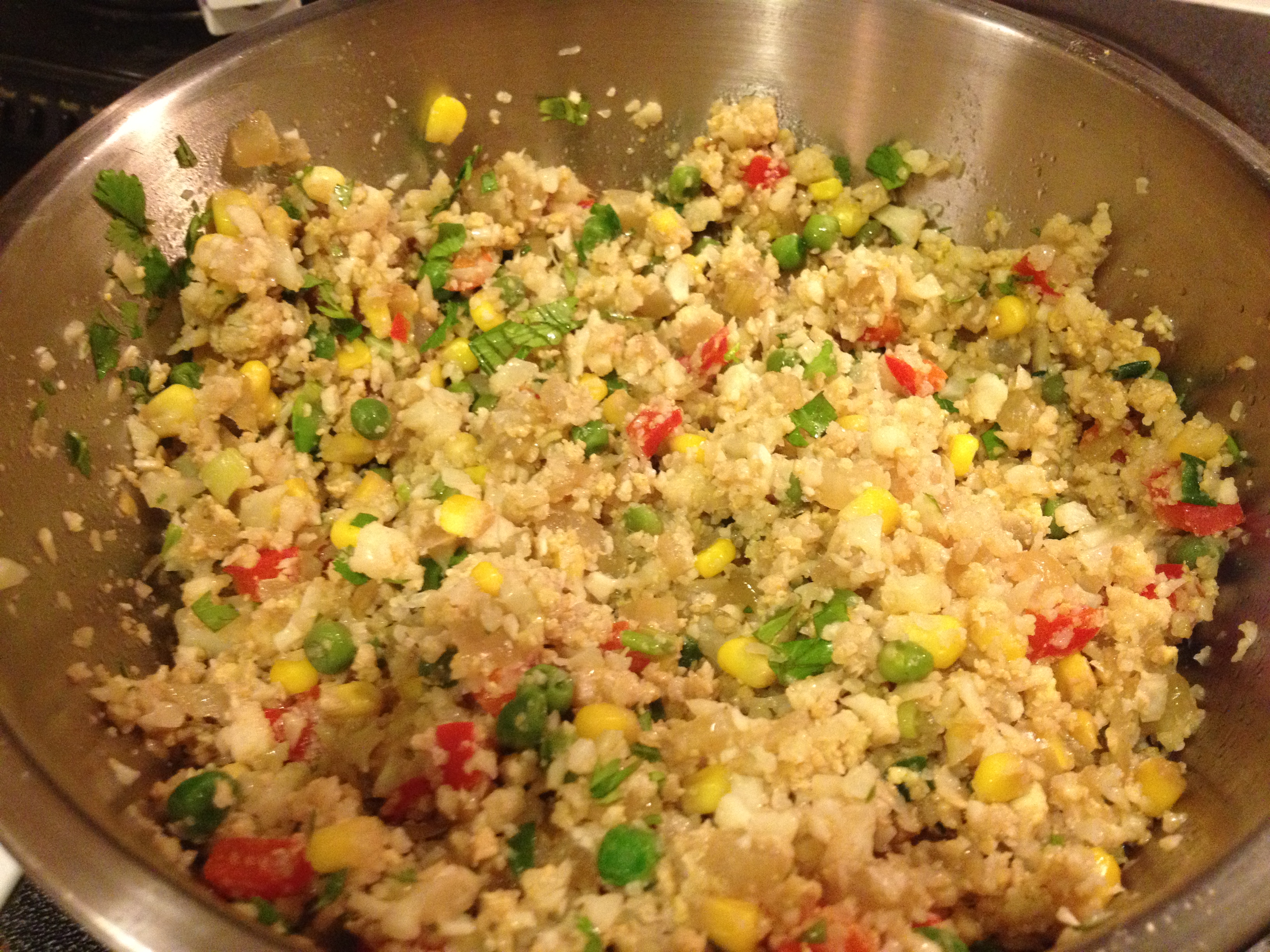 Cauliflower Faux Fried Rice from Grabbing the Gusto