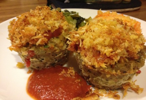 Chicken Parmesan Muffins recipe from Grabbing the Gusto