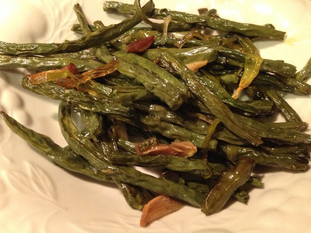 Slow-Roasted Green Beans recipe