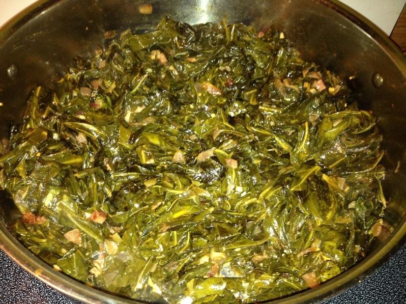 Smoky Spicy Collard Greens |Grabbing the Gusto