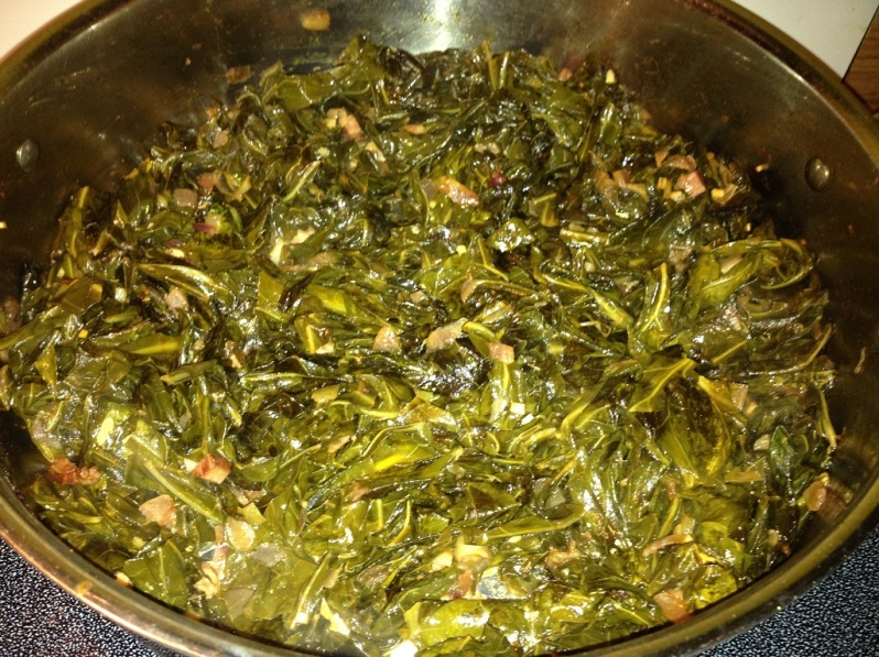 Smoky Spicy Collard Greens |Grabbing the Gusto