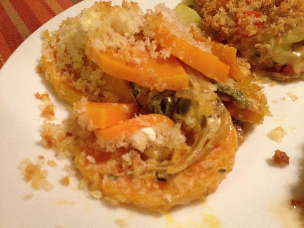 Butternut Squash and Poblano Gratin |Grabbing the Gusto