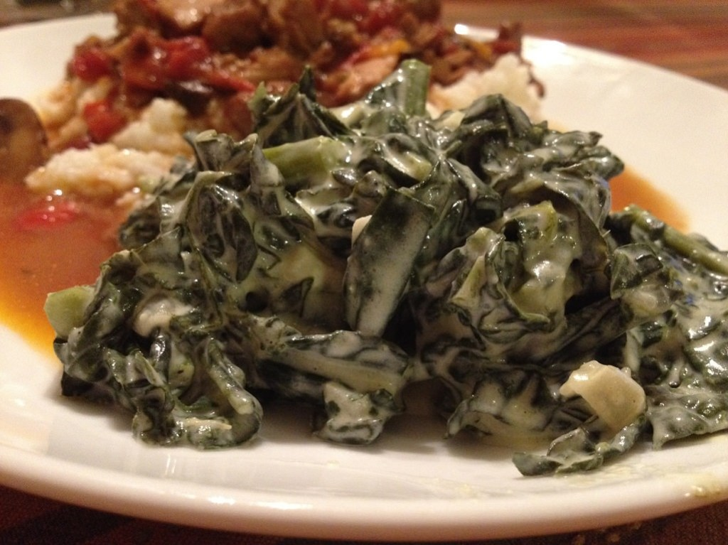 Creamed Greens (kale, tatsoi or spinach) | Grabbing the Gusto