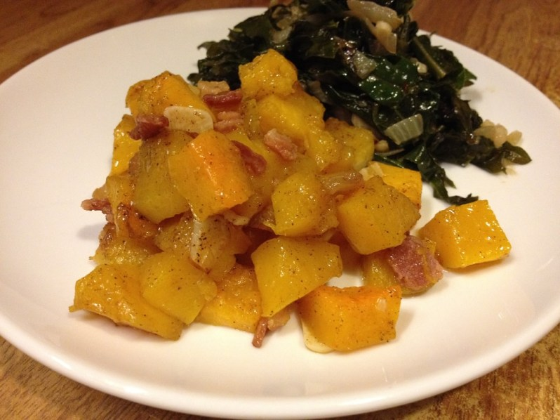 Roasted Spiced Butternut Squash with Maple and Bacon | Grabbing the Gusto