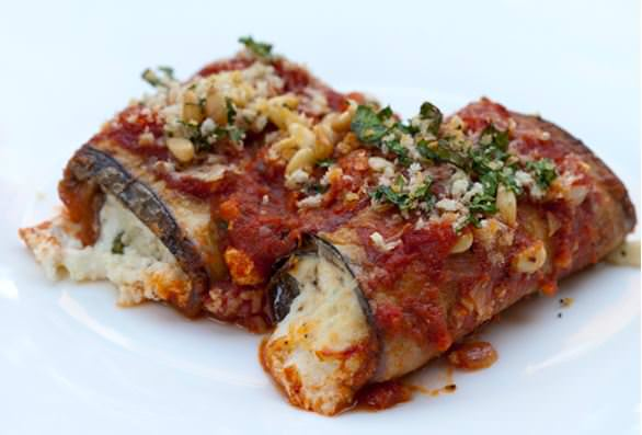 Use leftover ricotta in this Eggplant Rollups recipe from Italian Food Forever