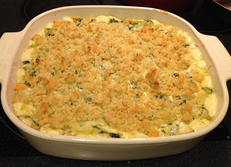 Turnip, Sweet Potato and Greens Gratin | Grabbing the Gusto