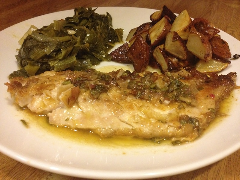 Greek-Style Pan-Fried Porgy | Grabbing the Gusto
