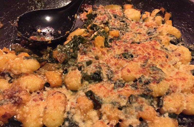 Gnocchi w Butternut Squash & Kale | Grabbing the Gusto