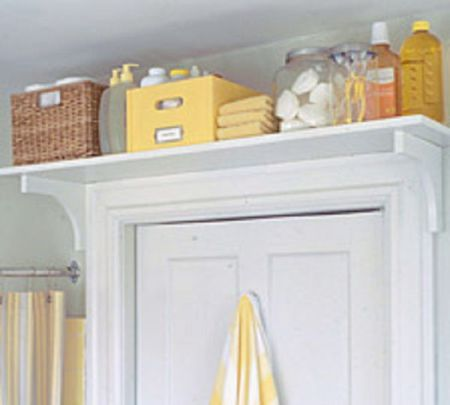 small bathroom storage over the door shelf
