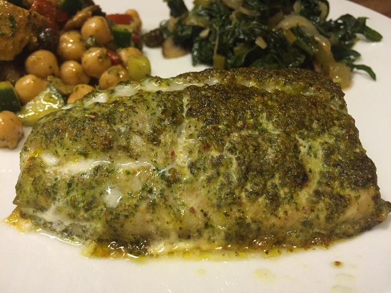 Moroccan-Style Striped Bass with Charmoula