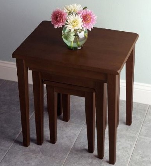 Target Winsome Regalia Walnut Nesting Tables   Small Space Furniture