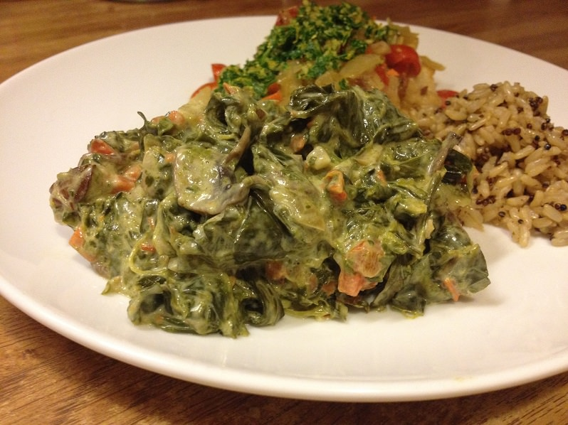 creamed collards greens