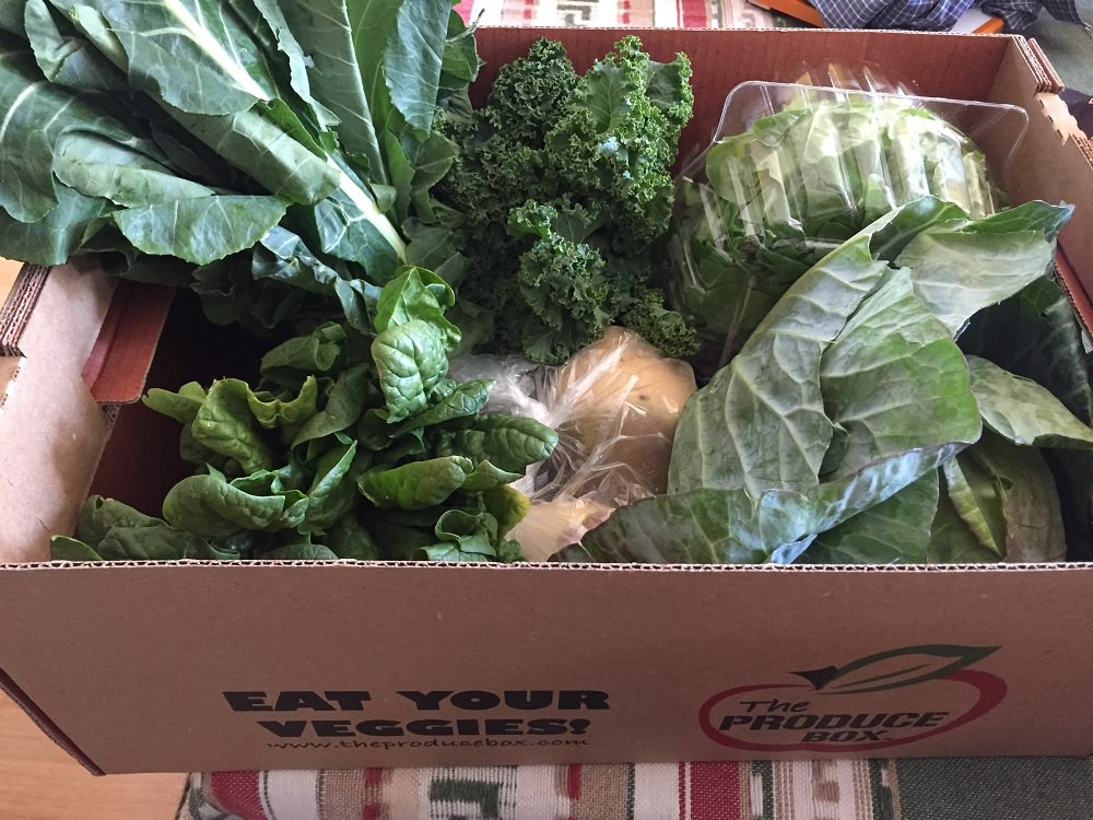 part of last week's delivery from The Produce Box