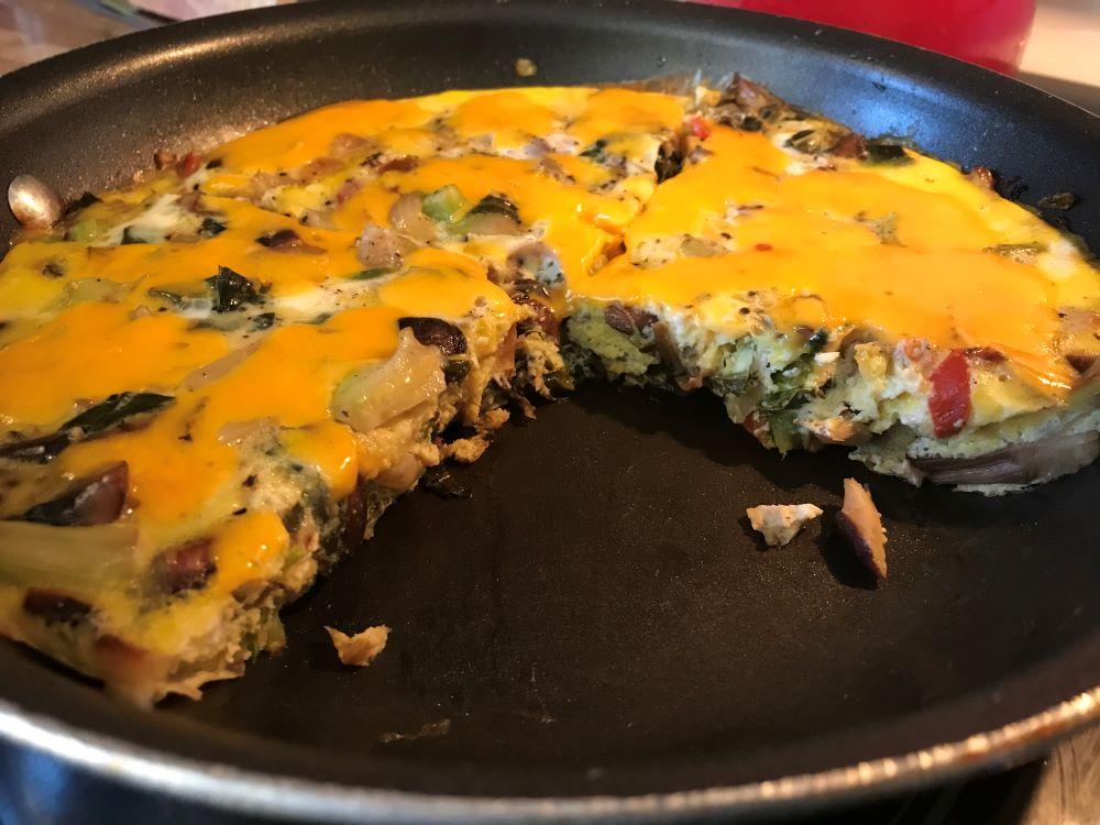 frittata, bluefish, Thai basil pesto, greens and other menu ideas