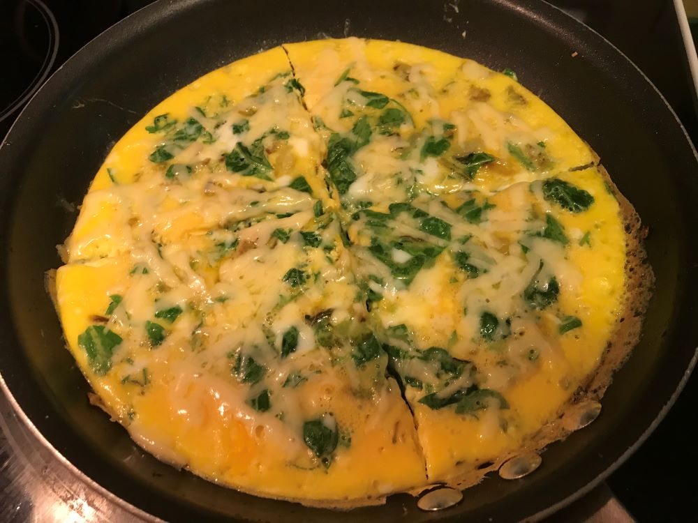 Arugula frittata plus menu ideas and recipes for striped mullet, flounder, salmon, dill, bread, greens, leftovers and tequila…