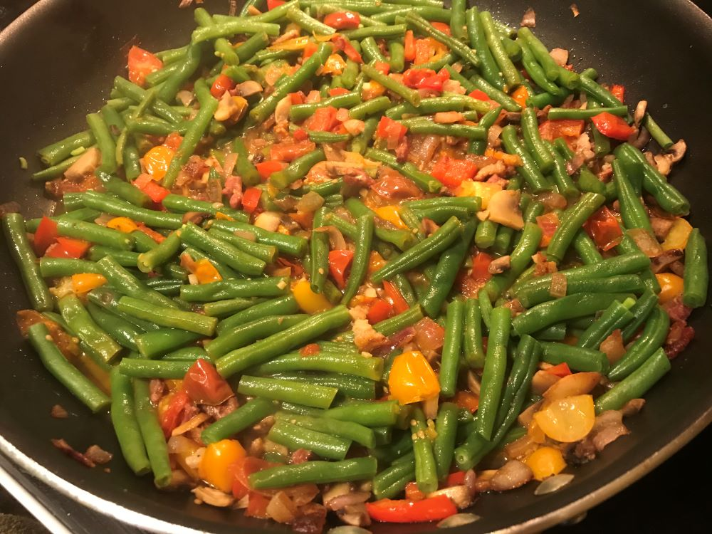 green beans tomatoes etc